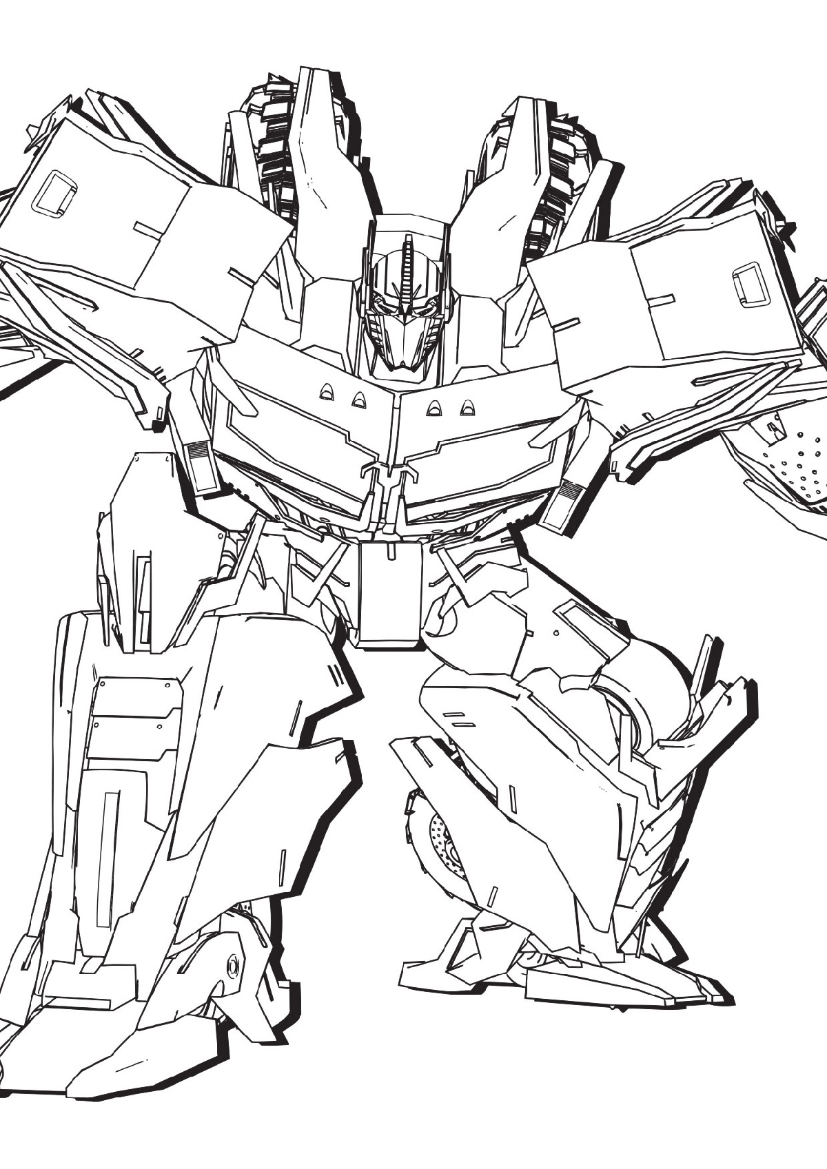 Transformer coloring pages optimus prime 3