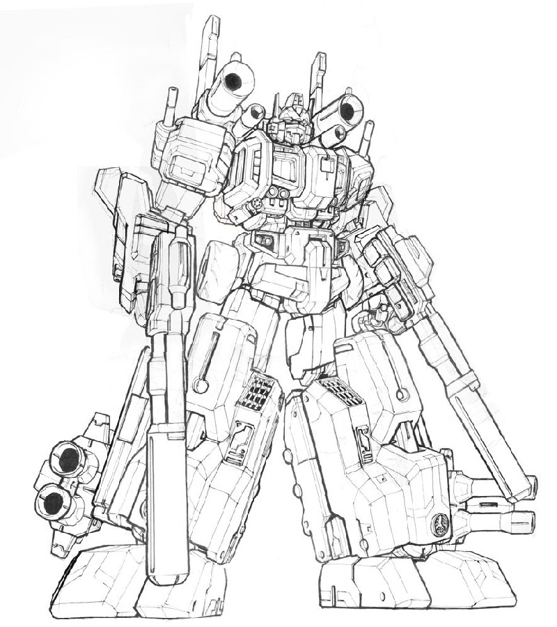Transformer coloring pages optimus prime 5