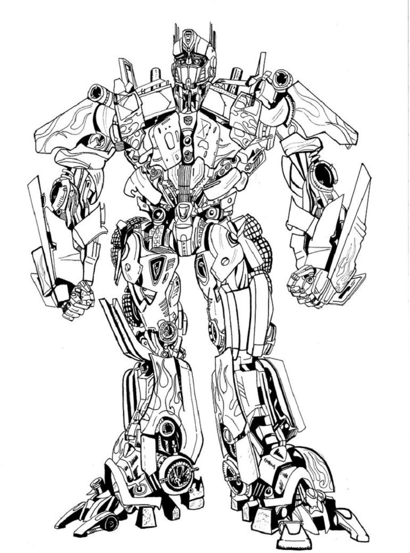 Transformer coloring pages optimus prime 6