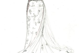 Wedding dress coloring pages five