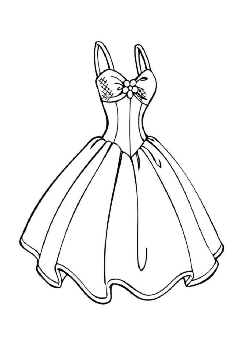 Wedding dress coloring pages three