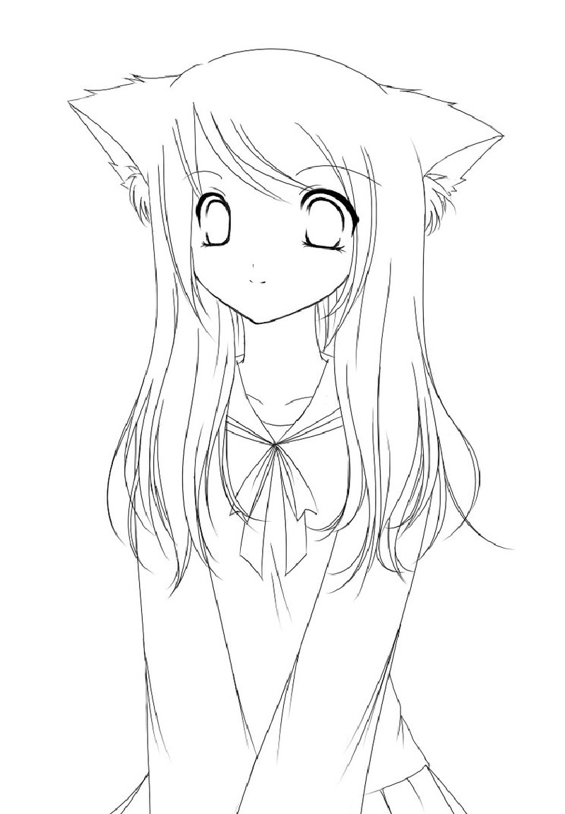 anime girl coloring pages 2