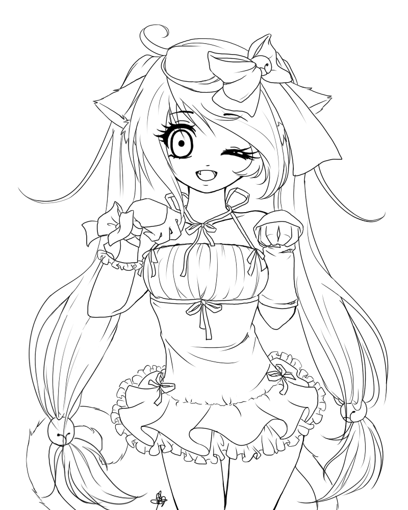 anime girl coloring pages 3