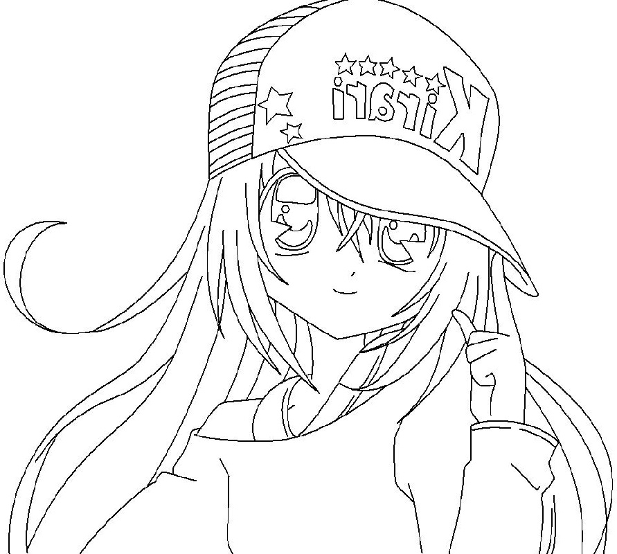 anime girl coloring pages 4