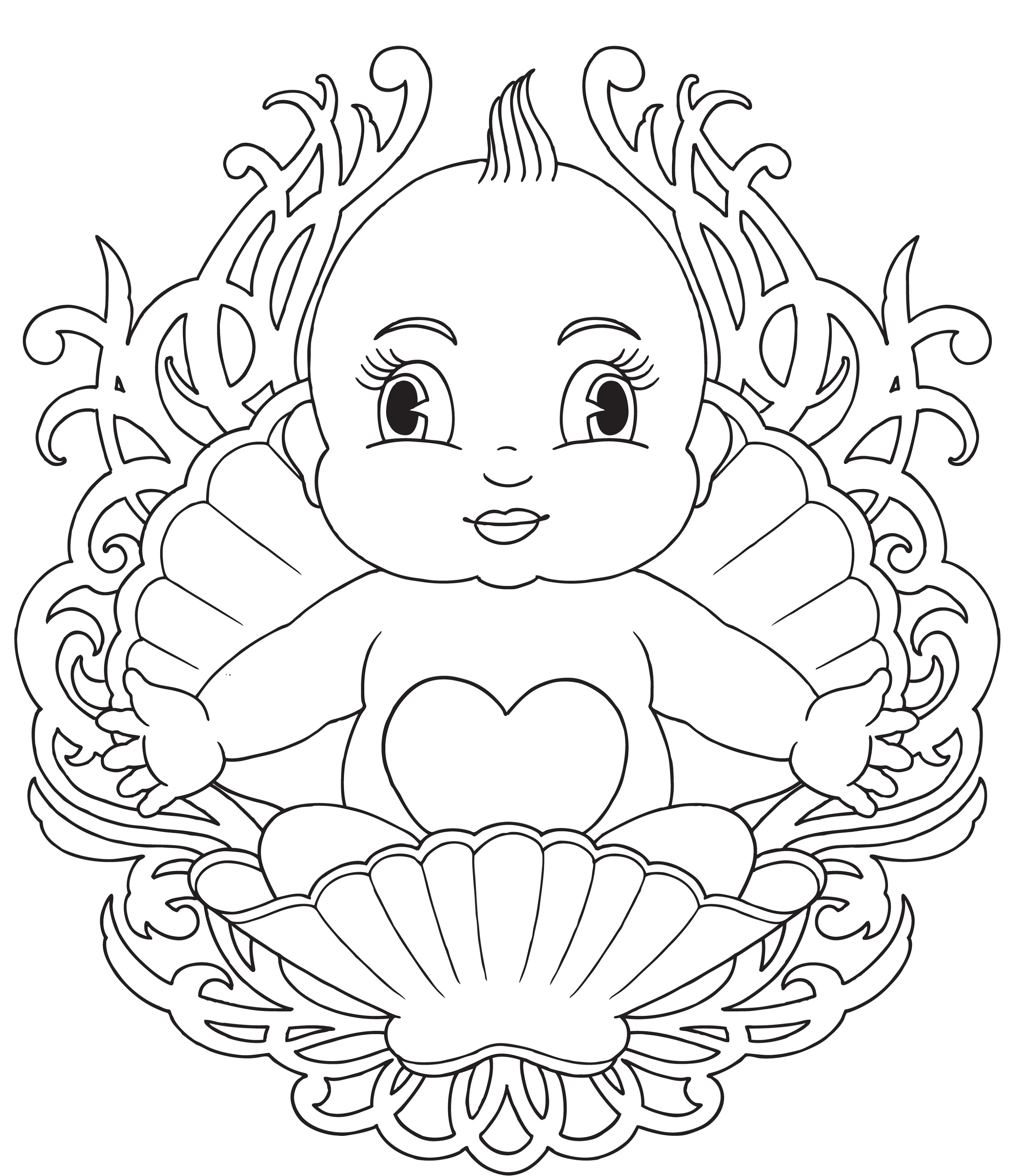 baby coloring pages 2