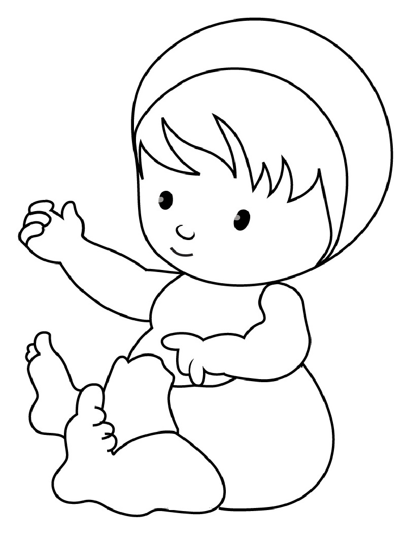 baby coloring pages 4