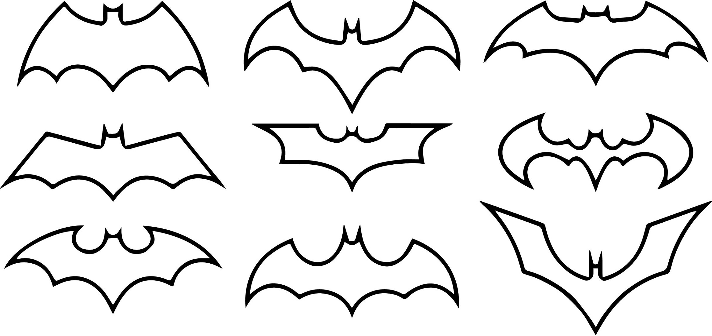 batman logo coloring pages logo evolution