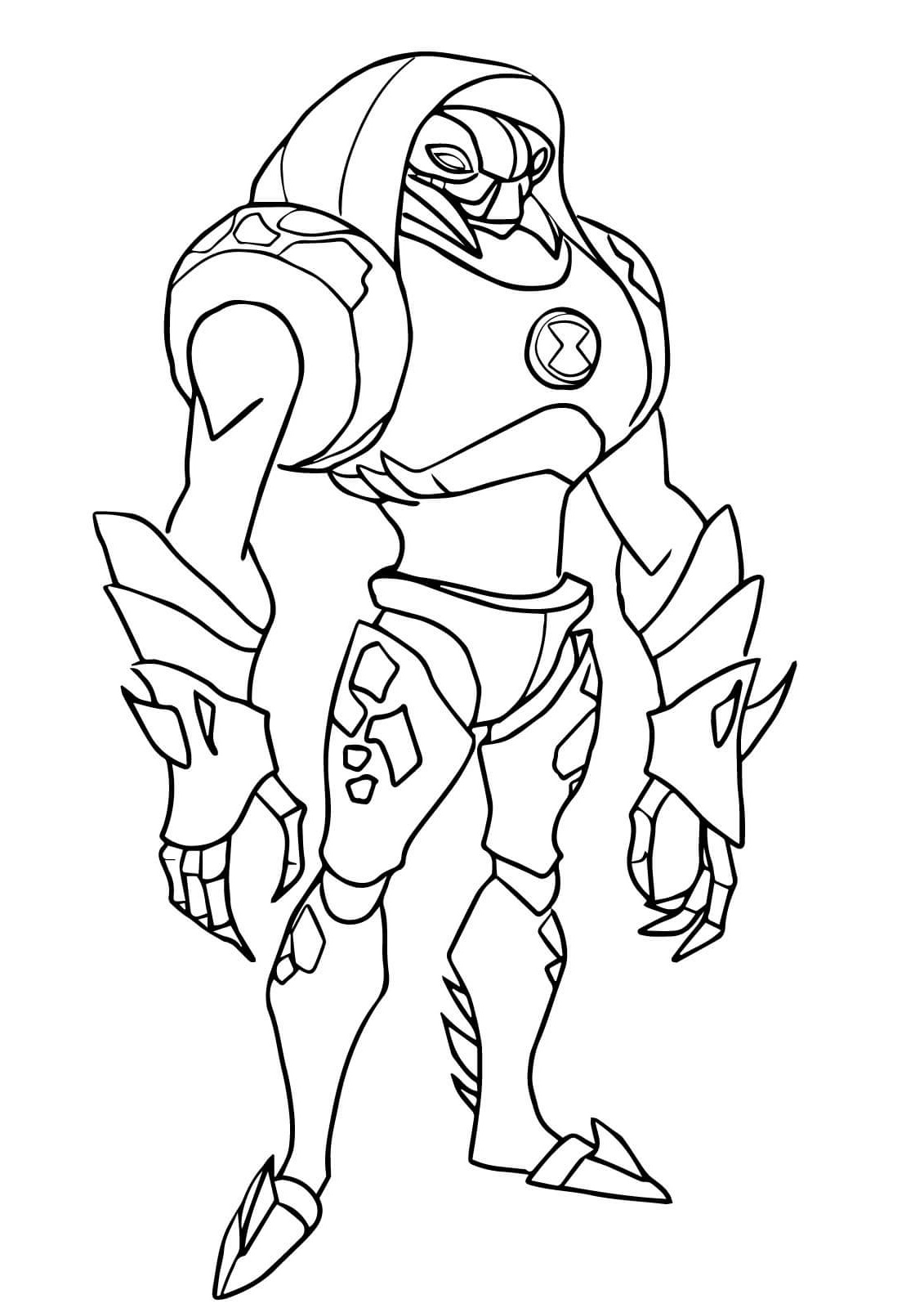 ben 10 coloring pages water hazard