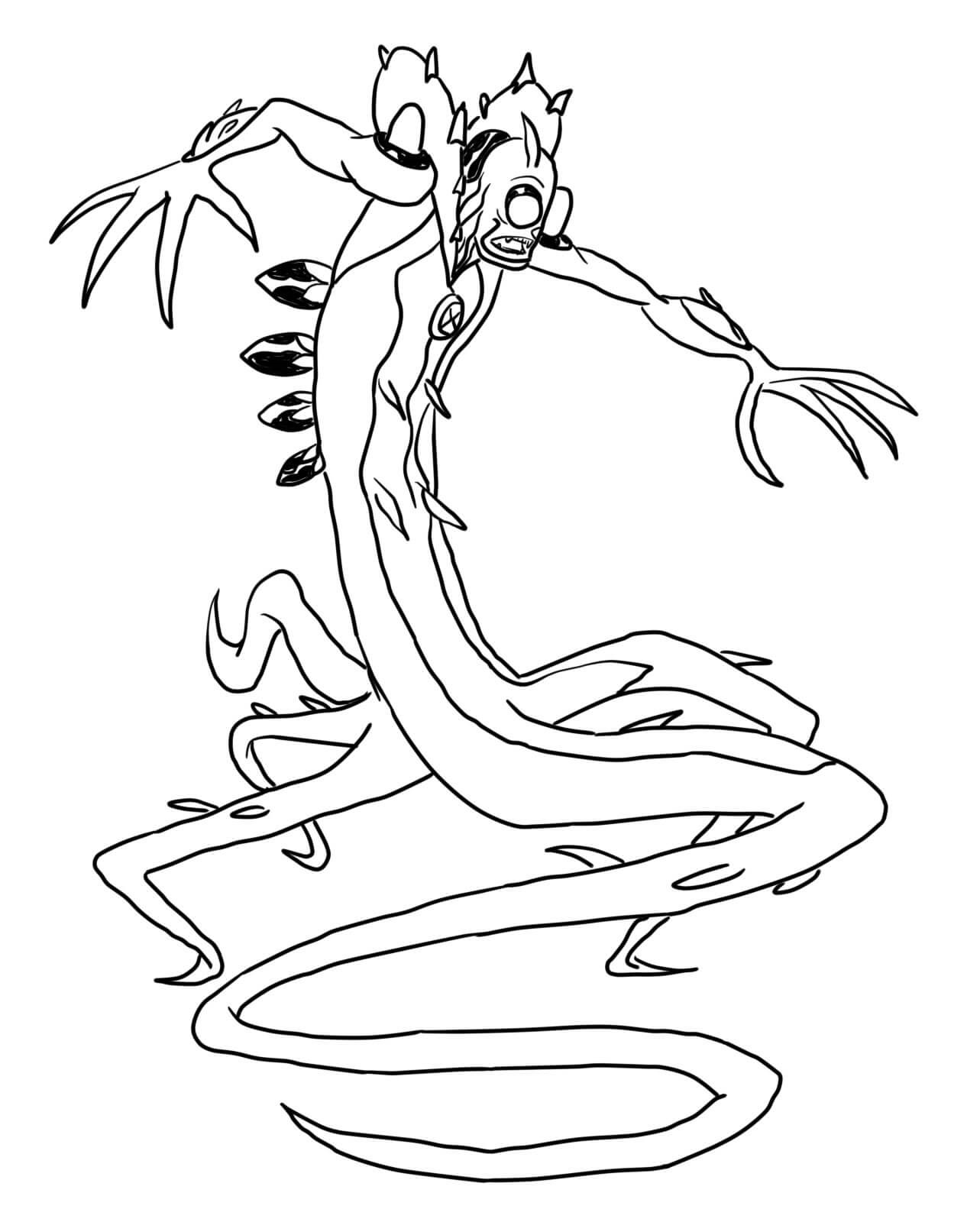 ben 10 coloring pages wildvine