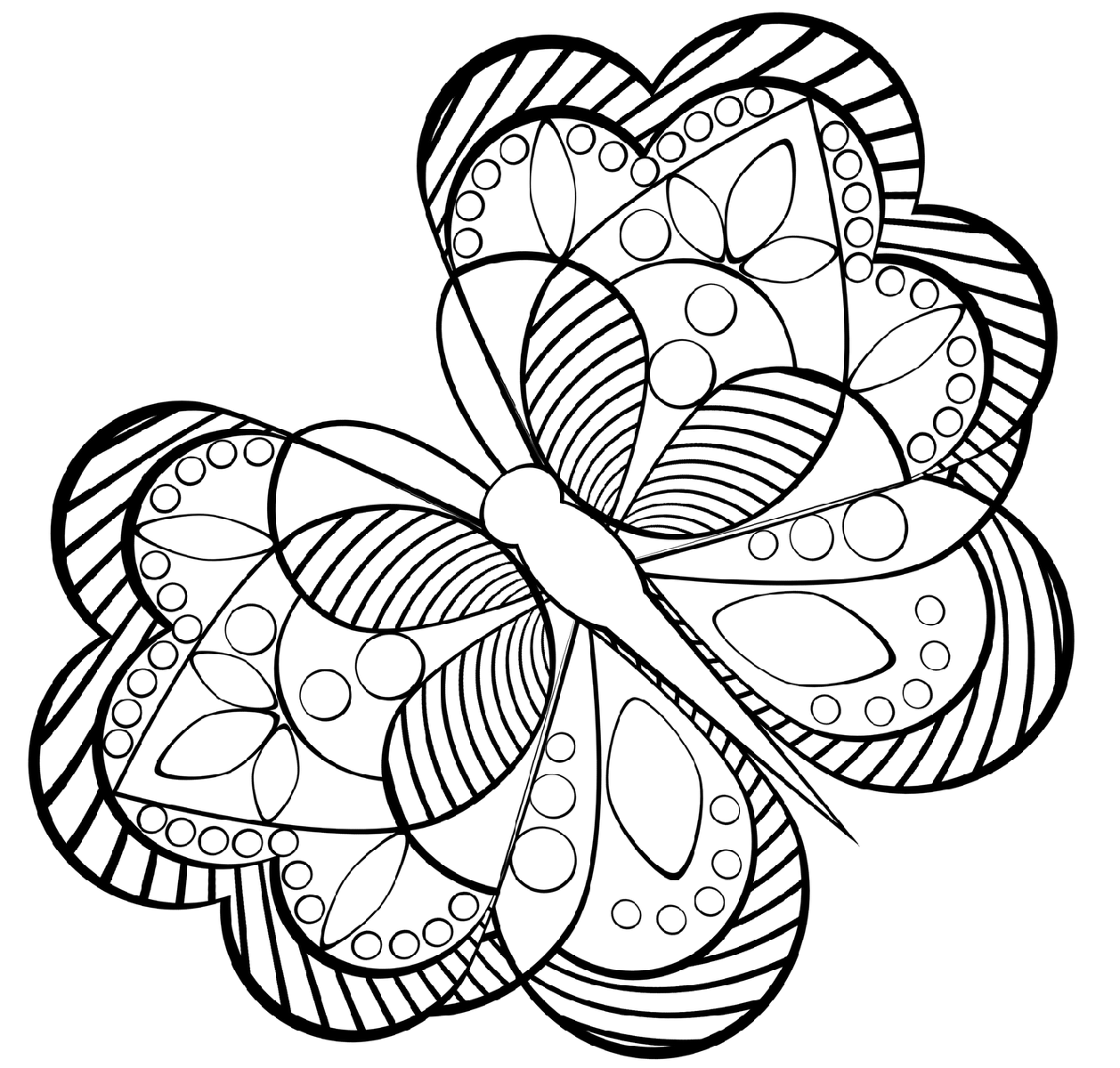 coloring for kids butterfly