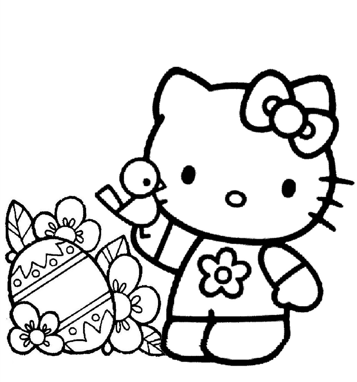 coloring for kids hellokitty