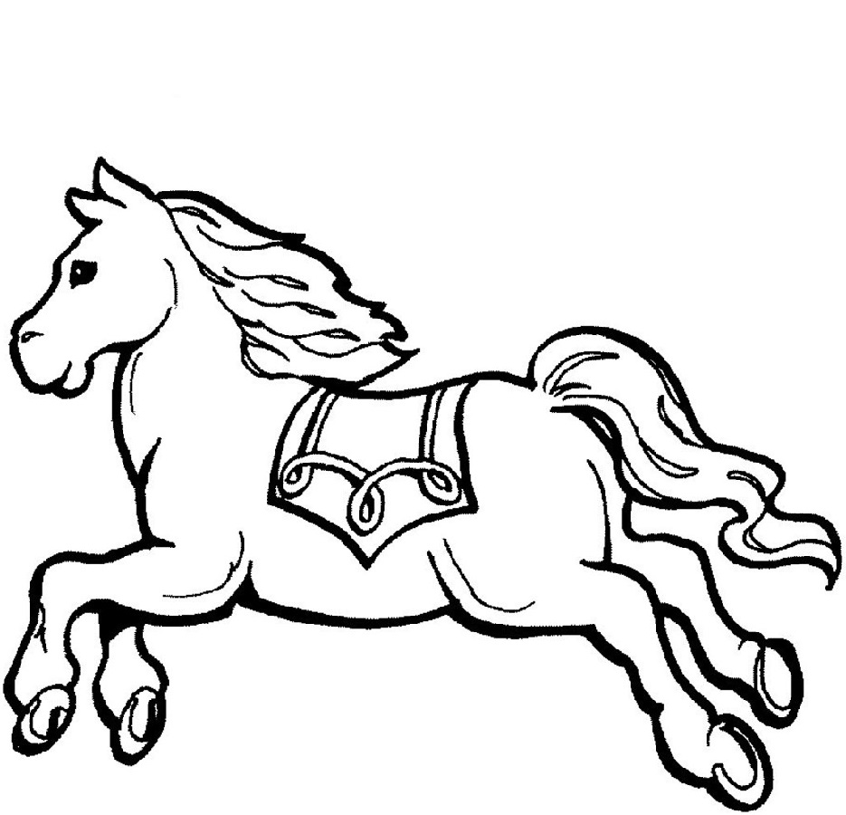 coloring for kids horse