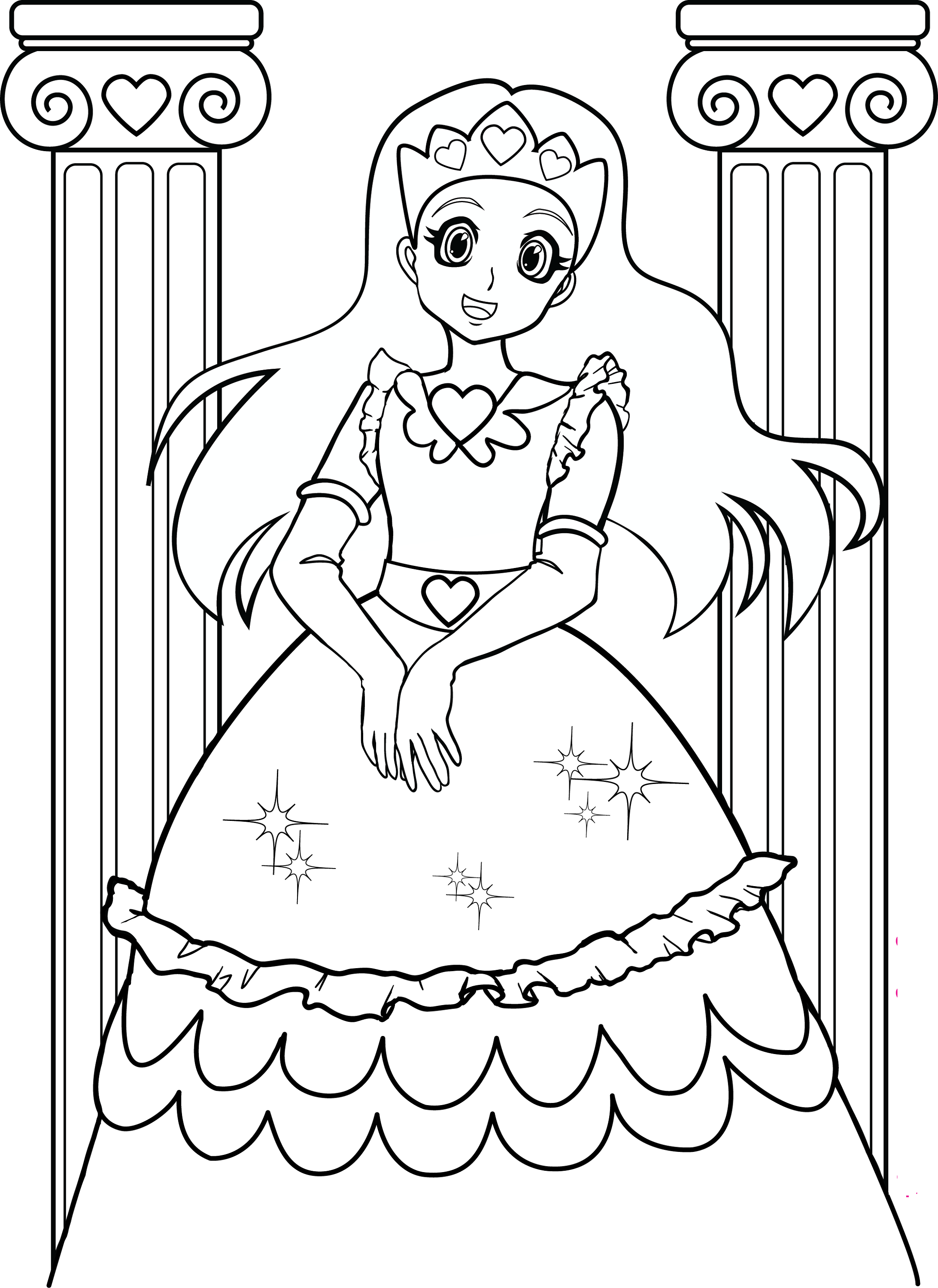 coloring for kids princess