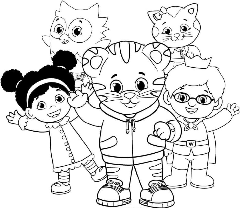 daniel tiger coloring pages 4