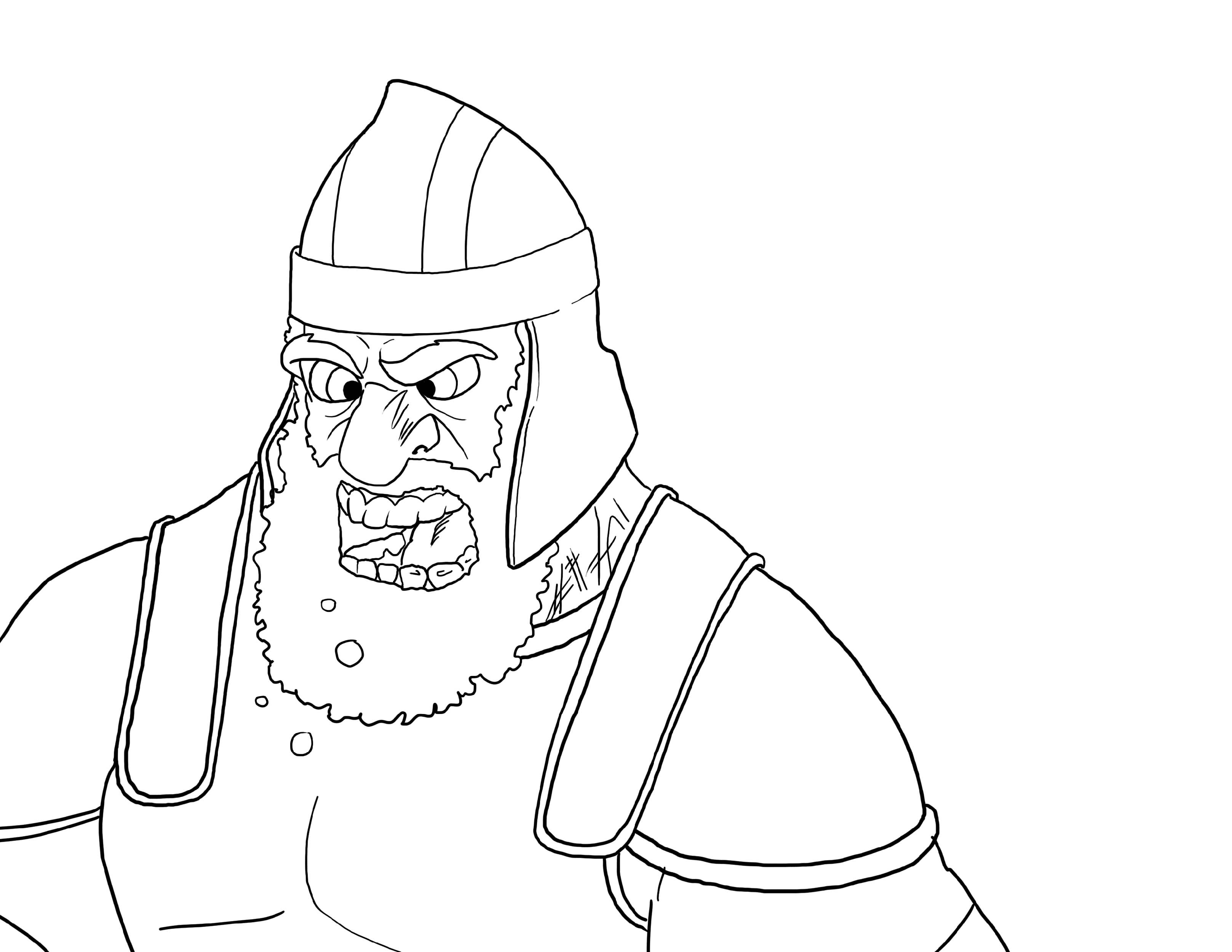 david and goliath coloring page face