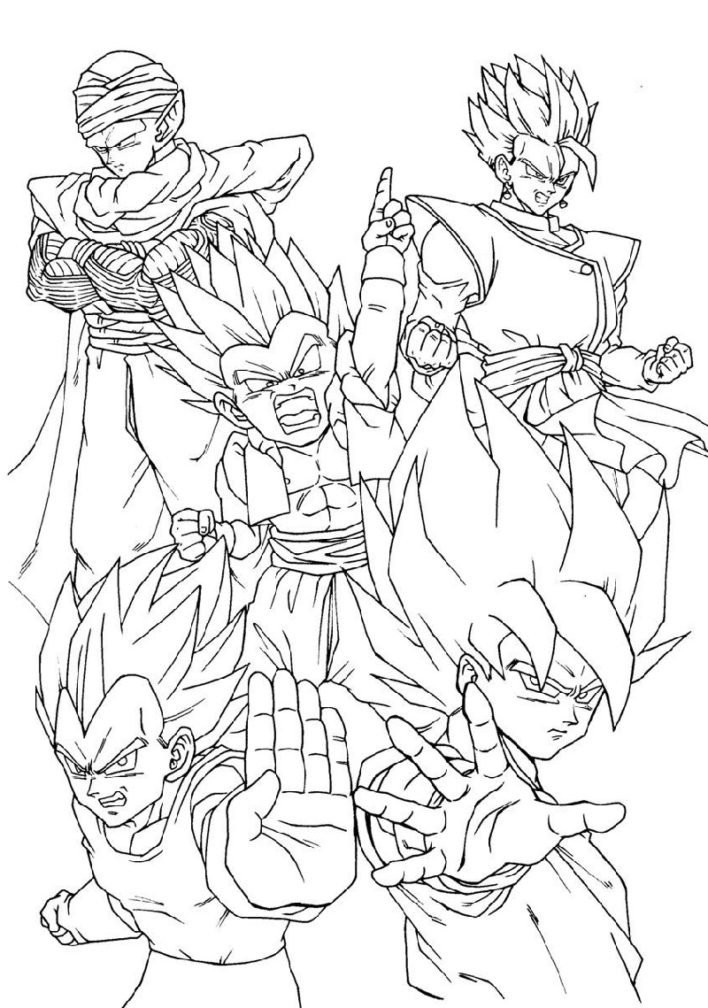 Dragon Ball Super Coloring Pages | Educative Printable