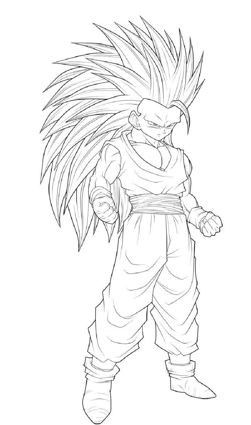 dragon ball super coloring pages 2