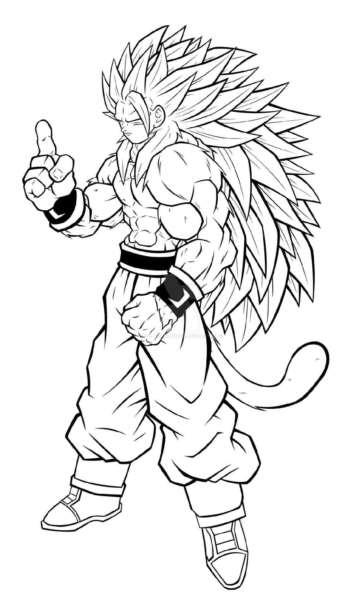 dragon ball super coloring pages 4
