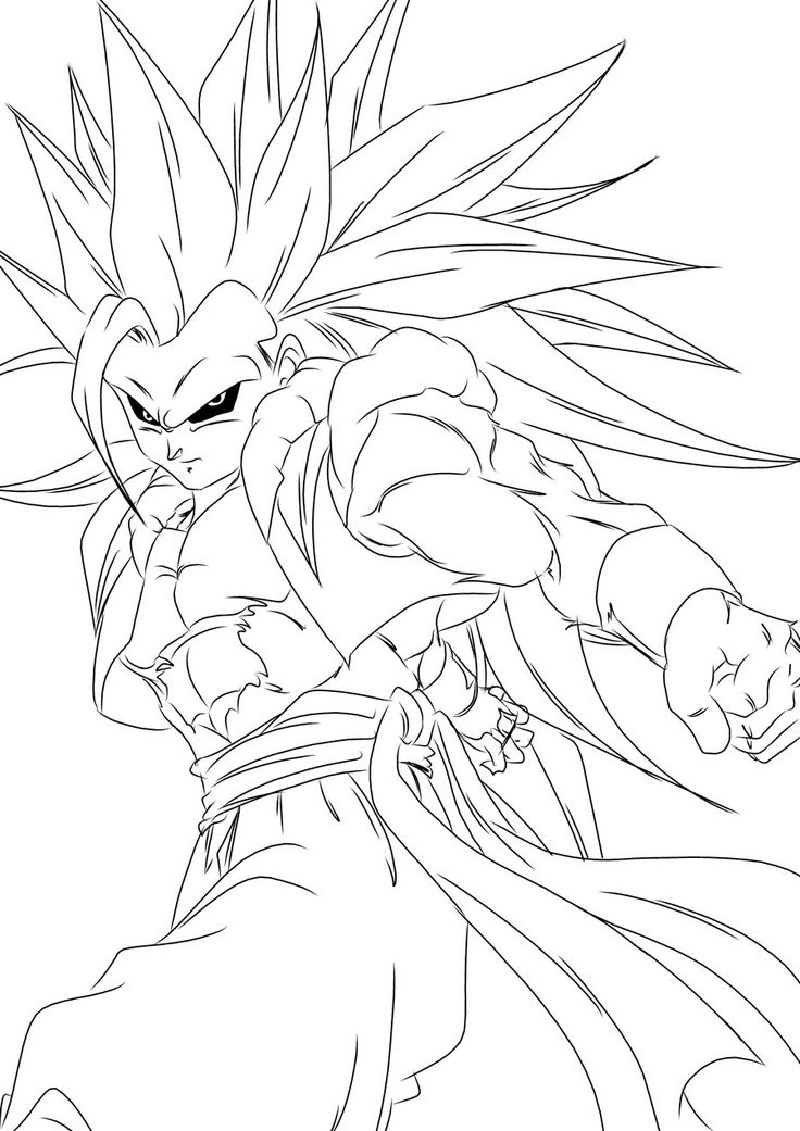 dragon ball super coloring pages 5