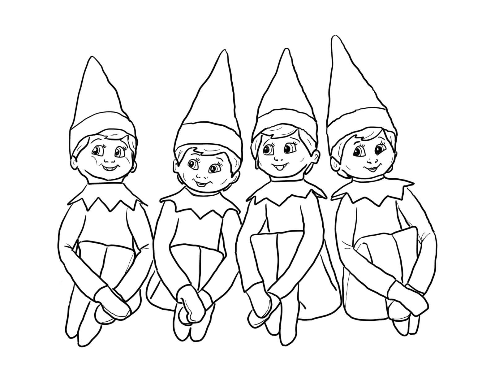 elf on the shelf coloring sheets bestfriend