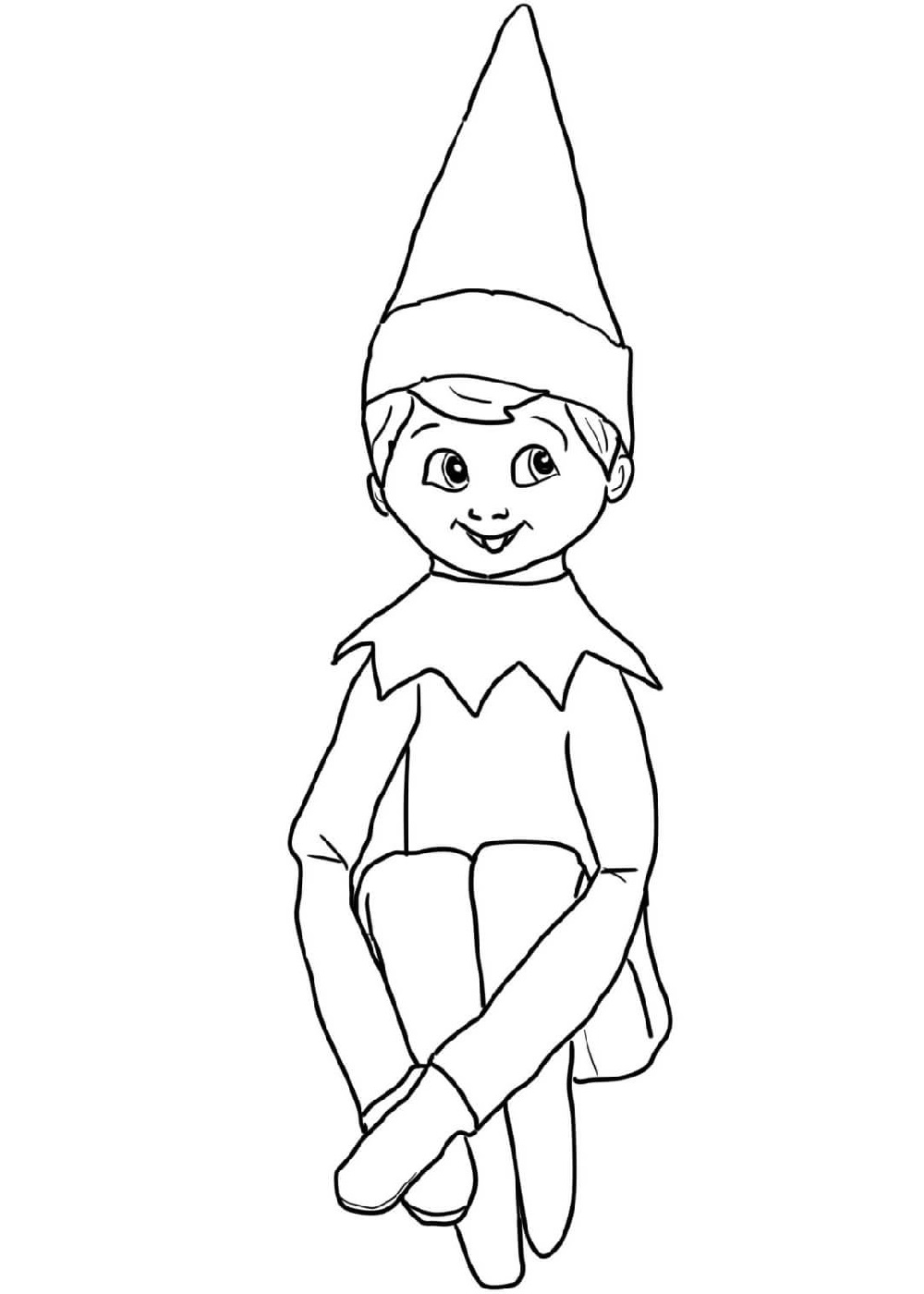 elf on the shelf coloring sheets cute