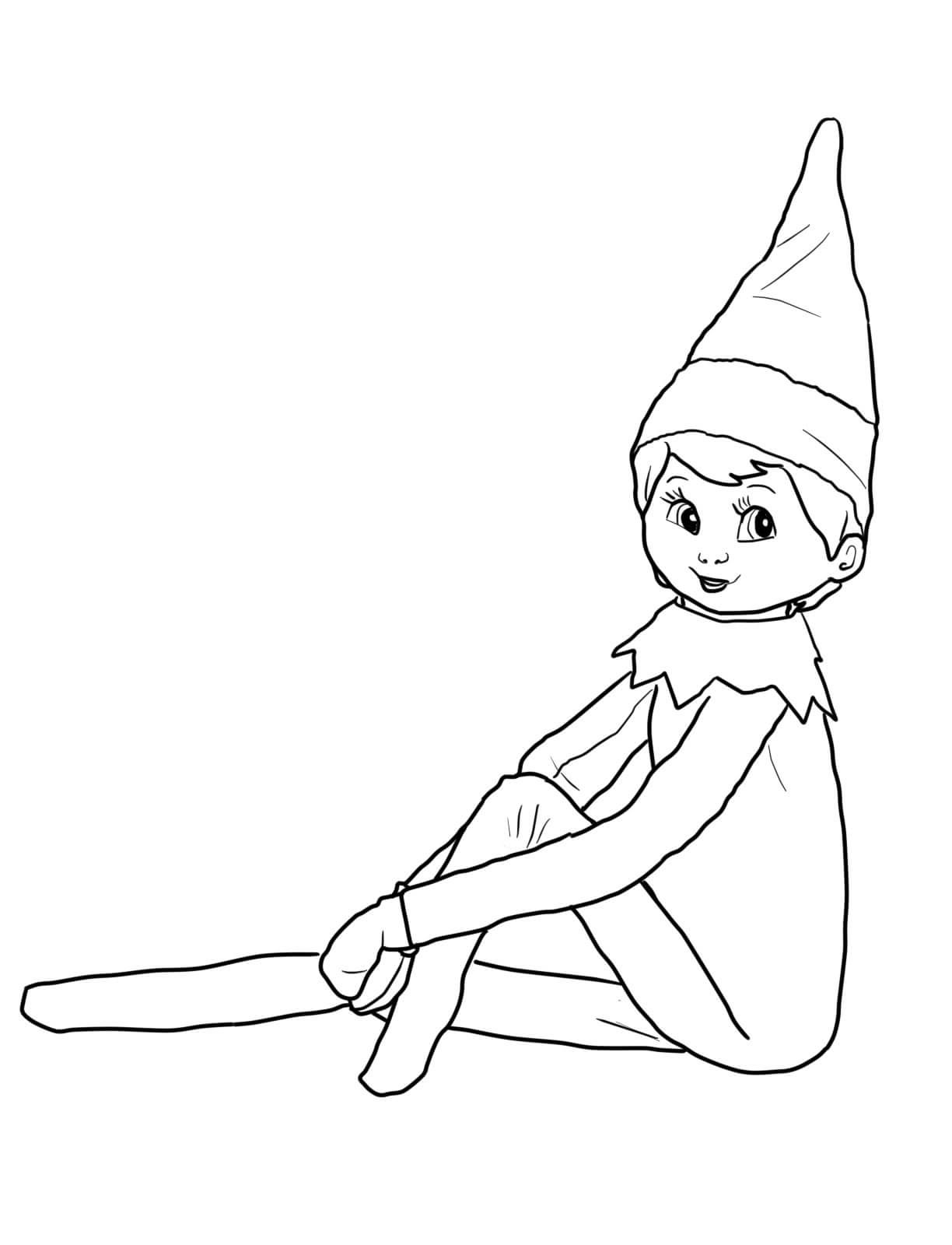 elf on the shelf coloring sheets enjoy