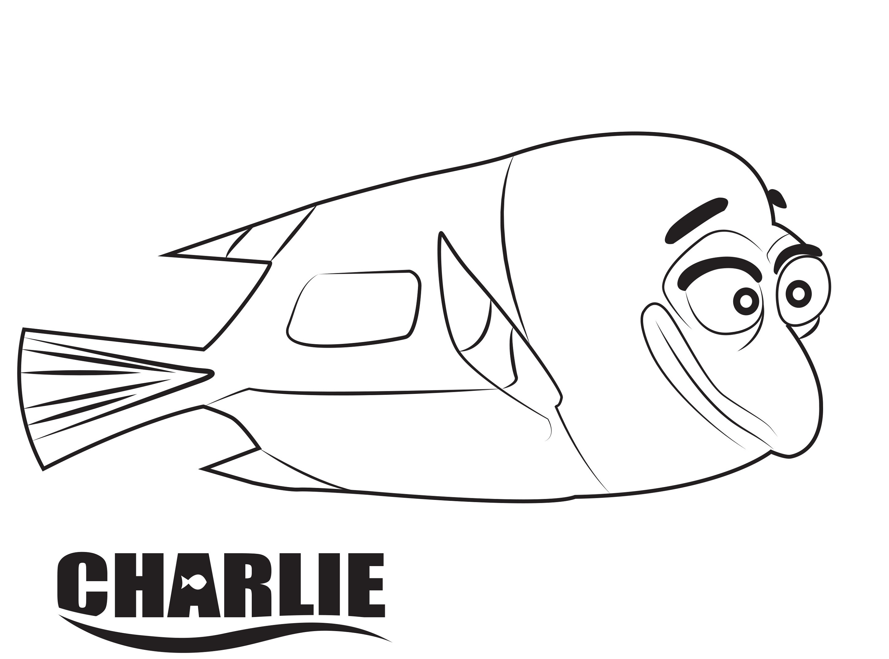 finding dory coloring pages charlie