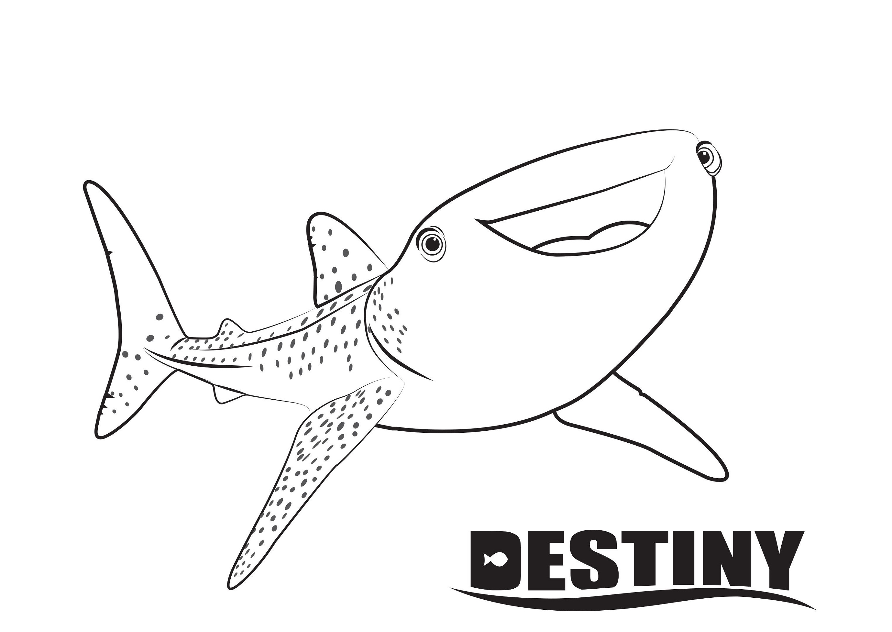 finding dory coloring pages destiny