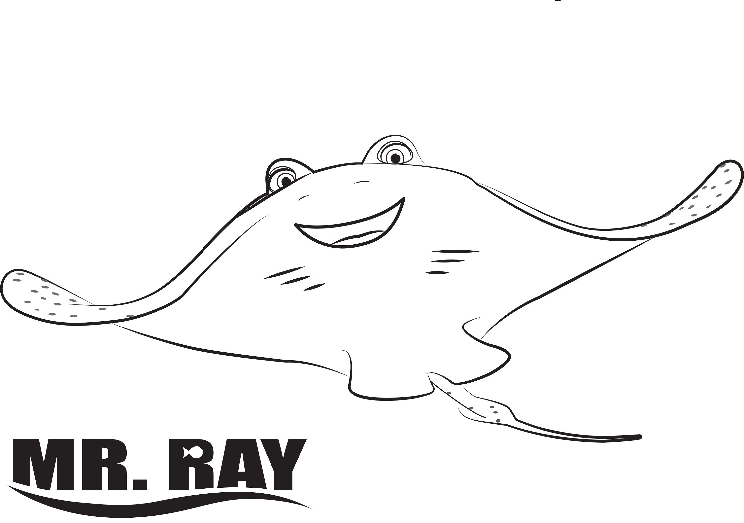 finding dory coloring pages mr. ray