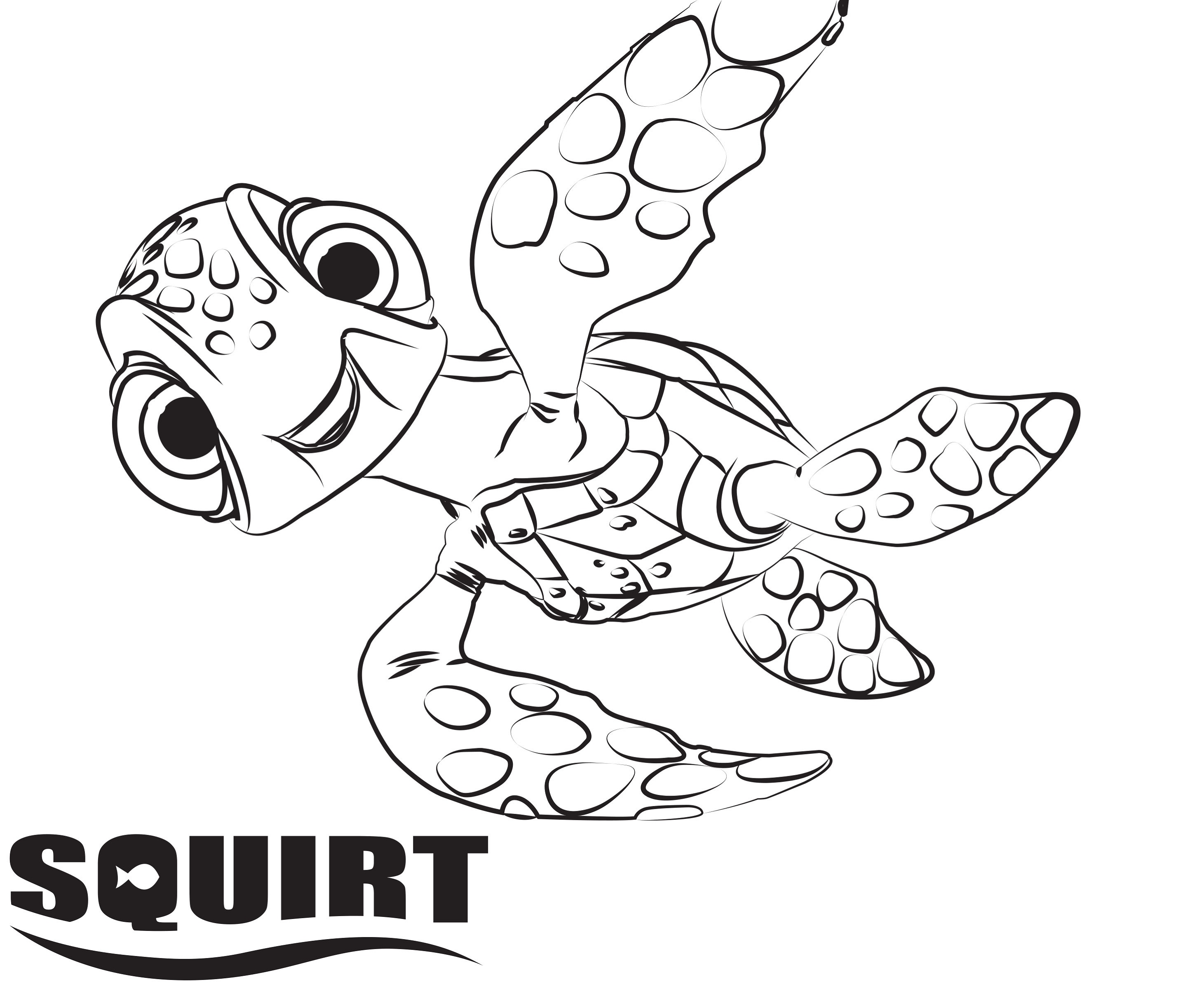 finding dory coloring pages squirt