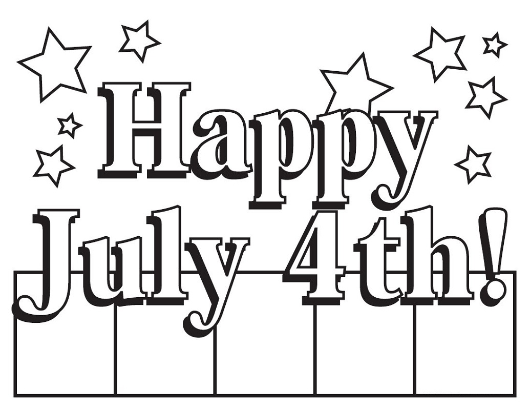 fourth of july coloring pages four