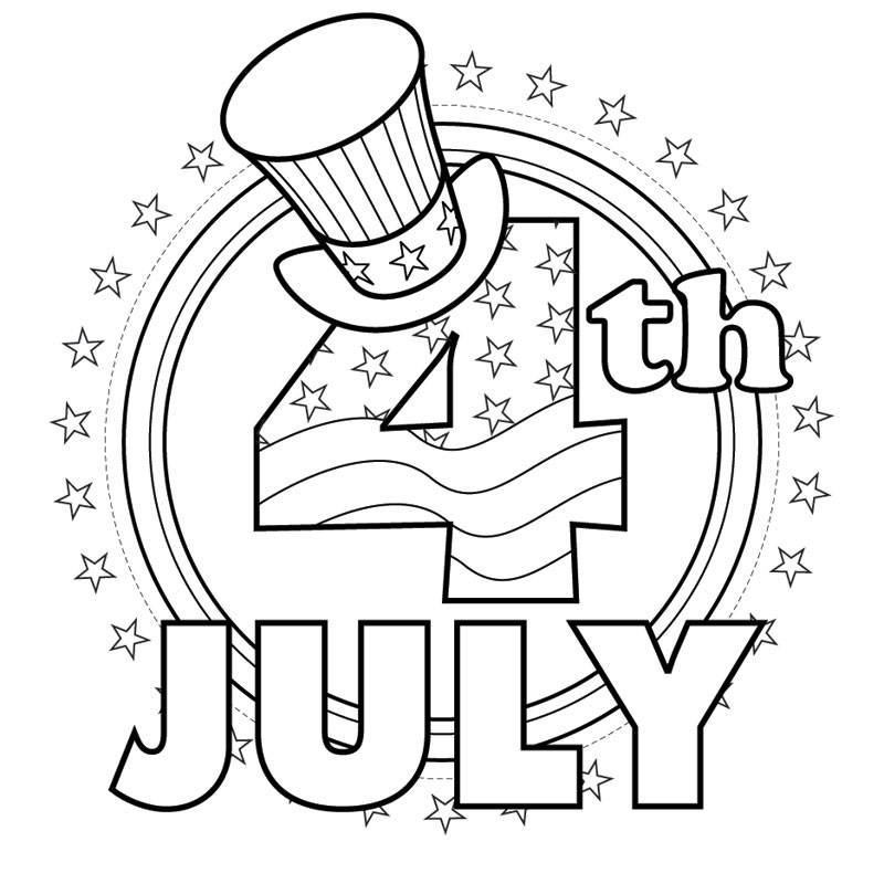 fourth of july coloring pages three