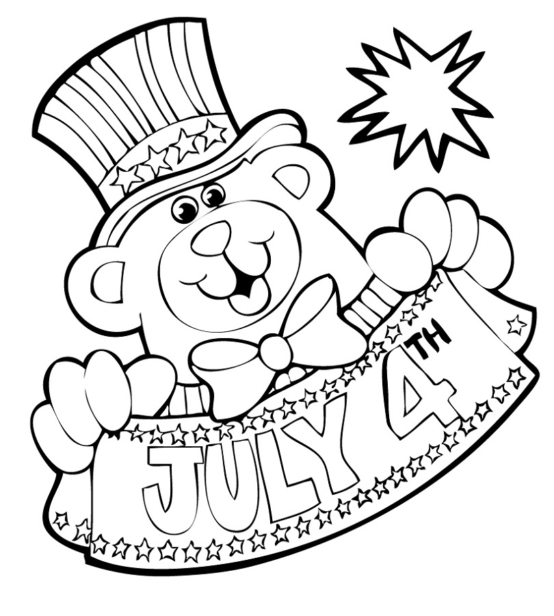fourth of july coloring pages two