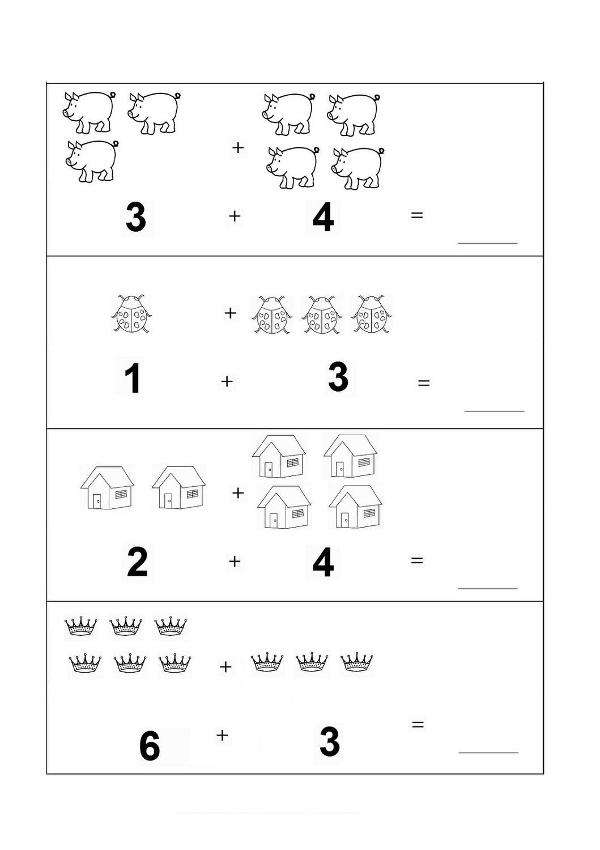 free math worksheets basic animals