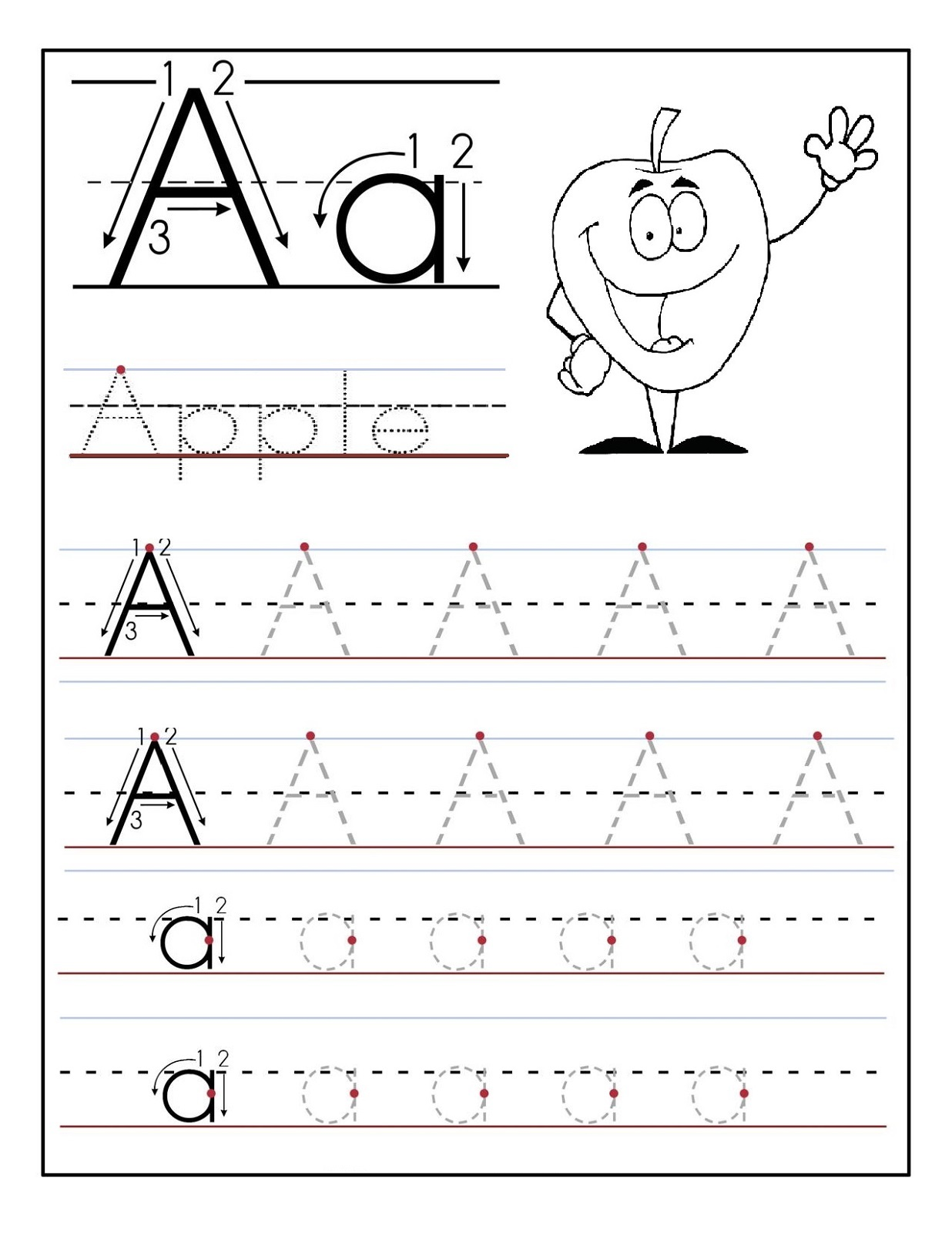 free preschool printables apple