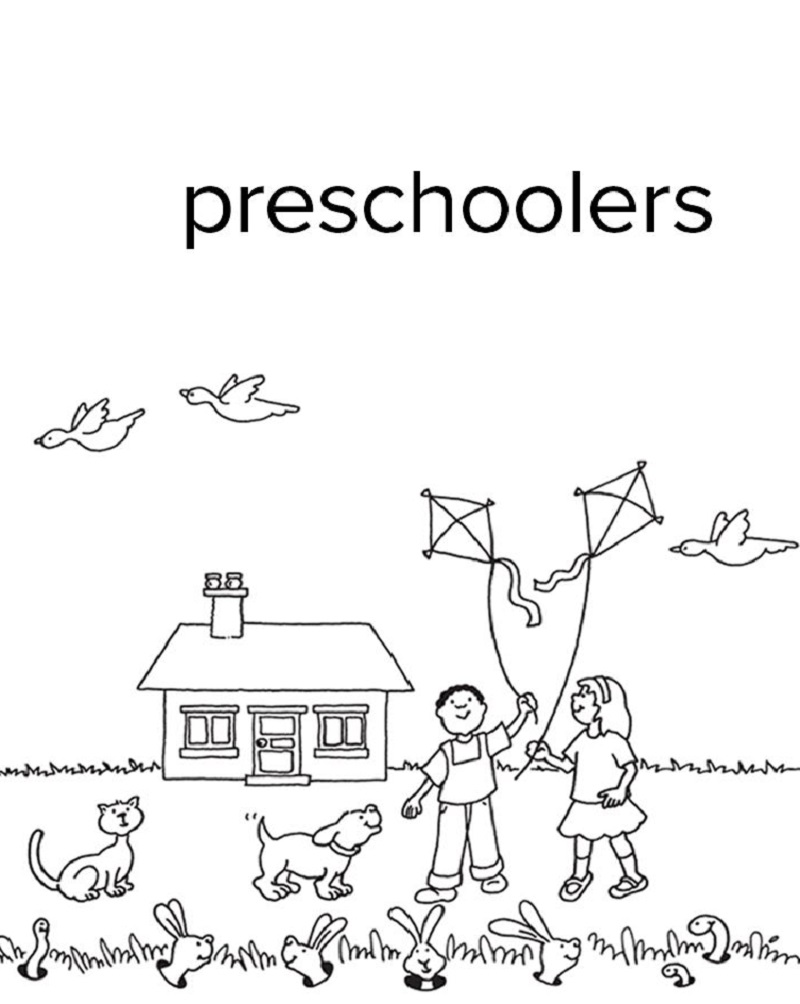 free preschool printables kids playing
