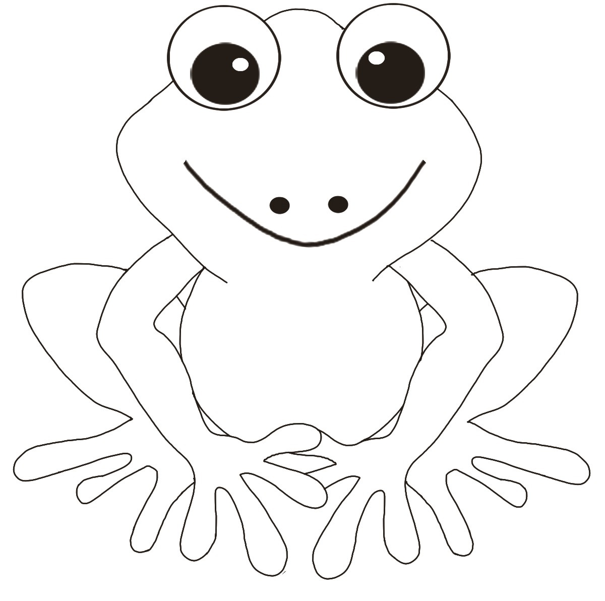 frog coloring pages 1
