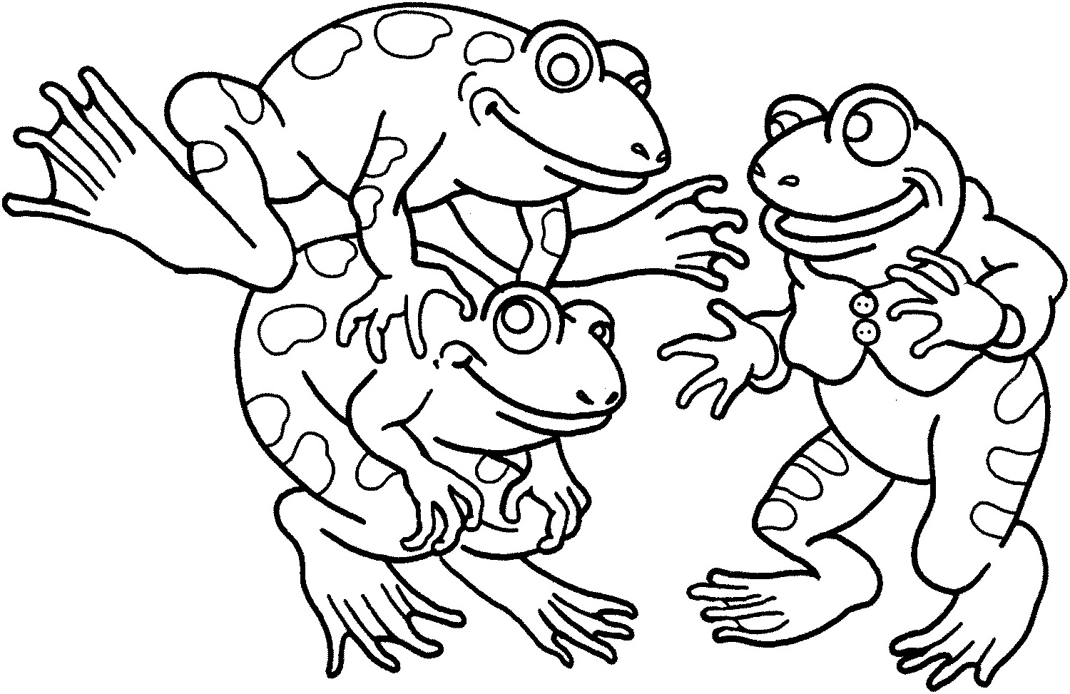 frog coloring pages 4