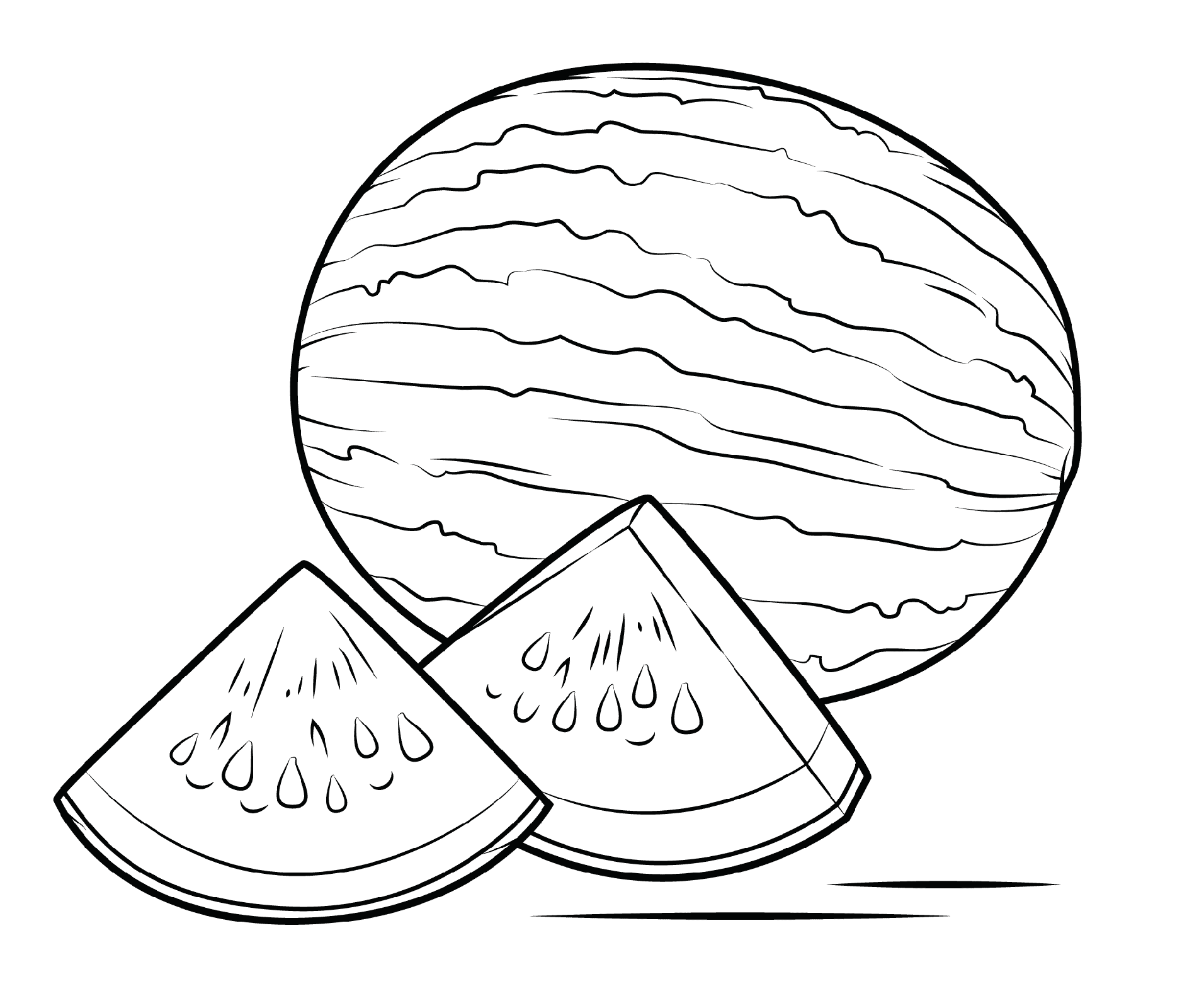 fruit coloring pages watermelon