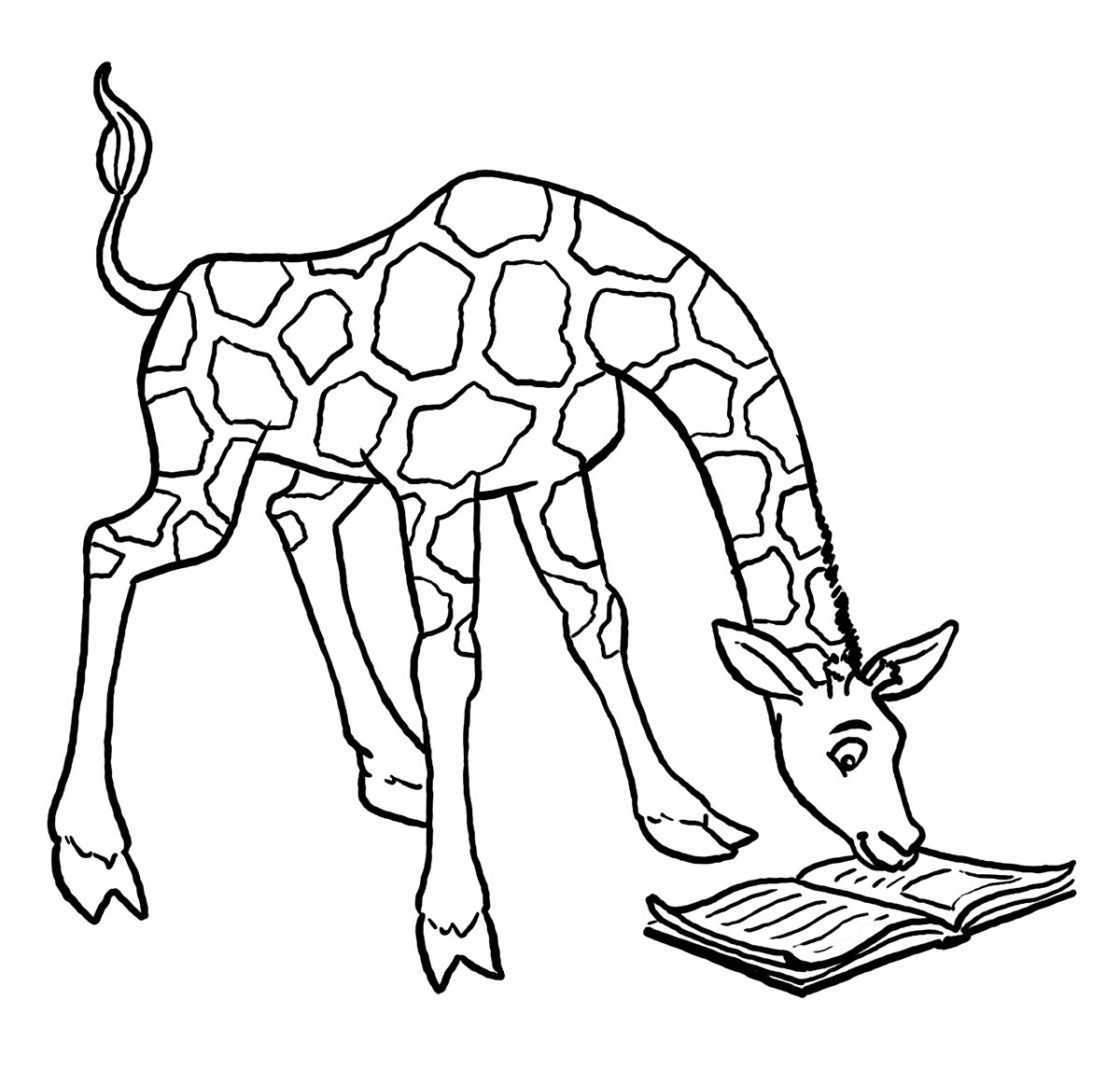 giraffe coloring pages reading