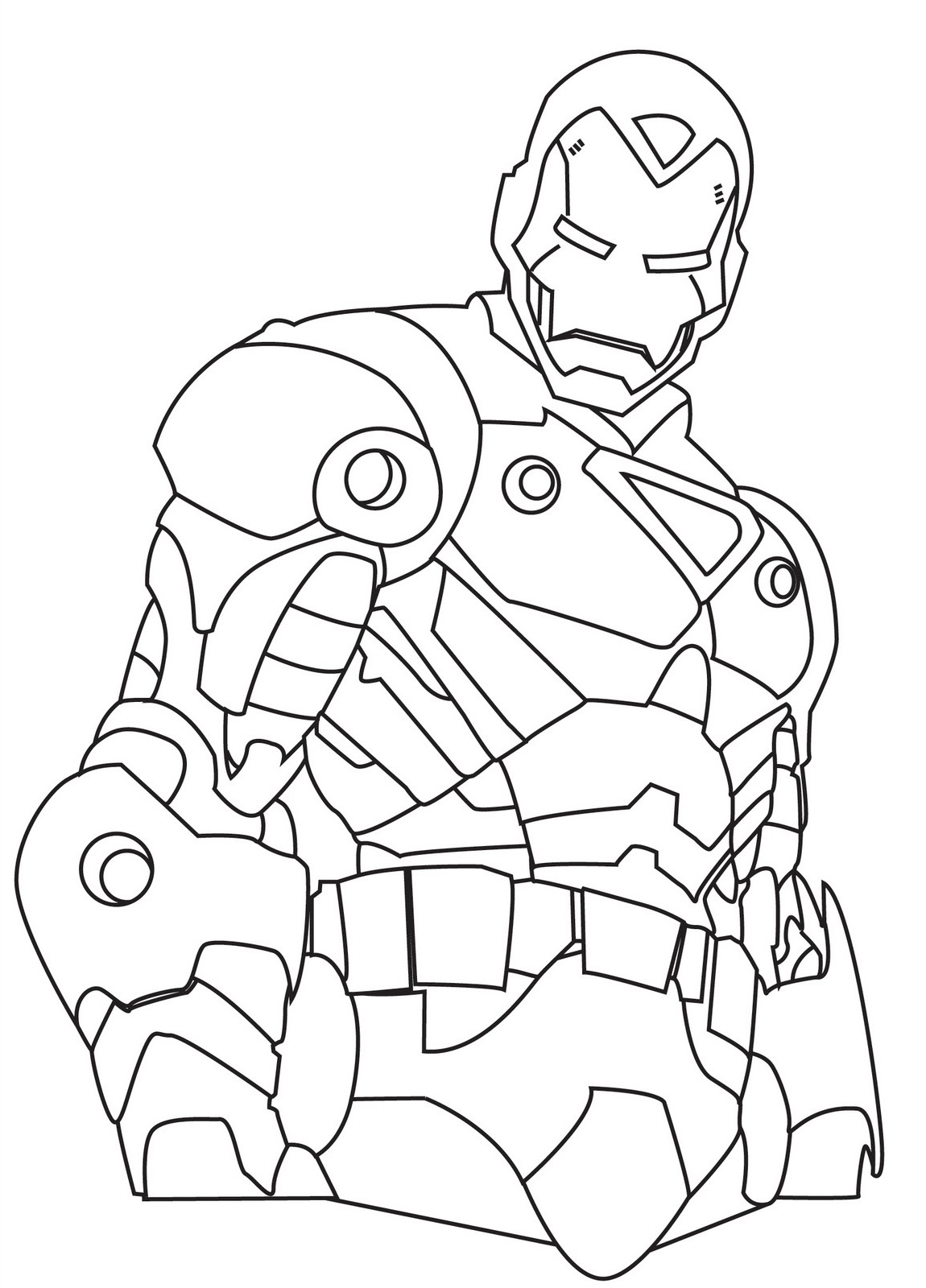 iron man coloring pages face