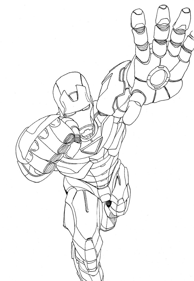 iron man coloring pages fly