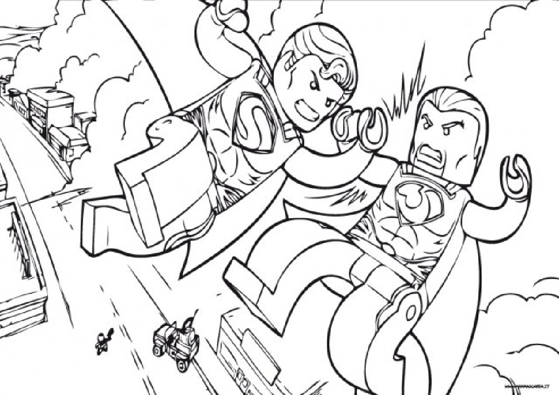 lego superman coloring pages fighting