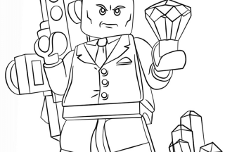 lego superman coloring pages lex luthor