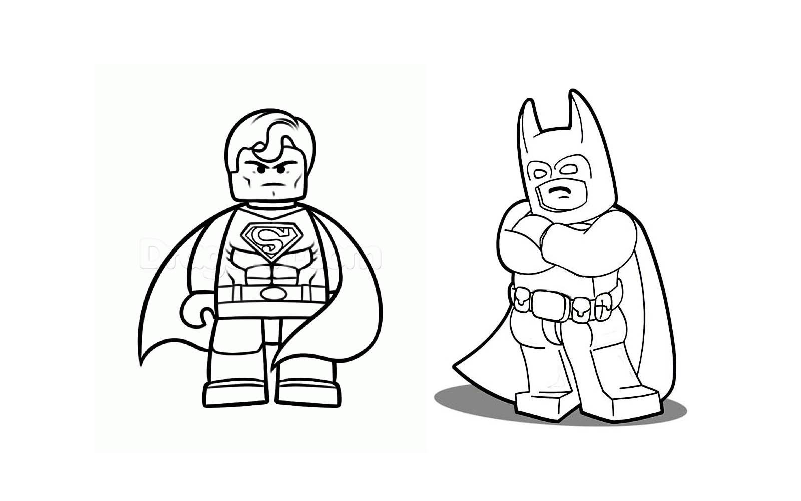 lego superman coloring pages superman and batman