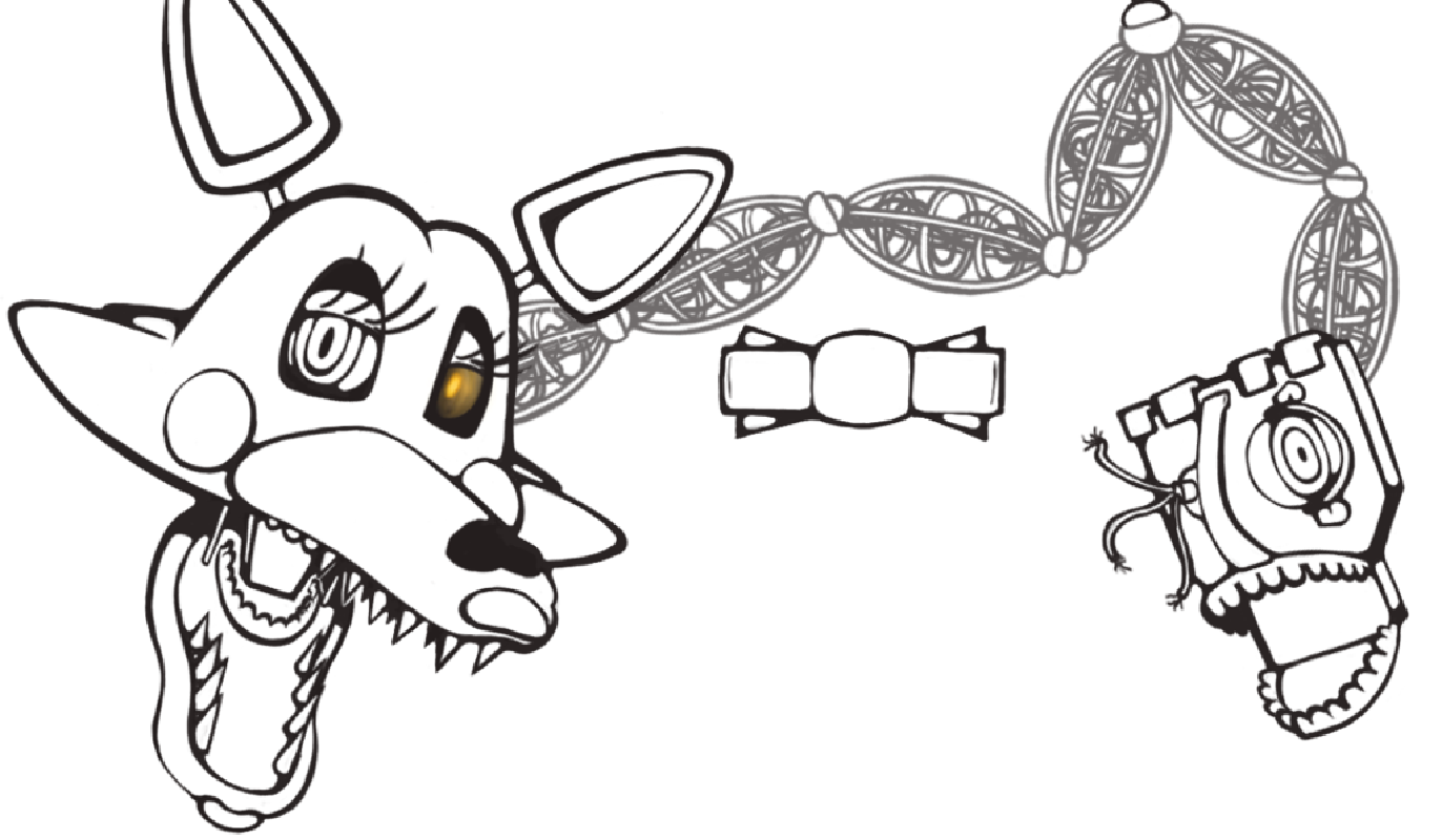 mangle coloring pages mangle friend