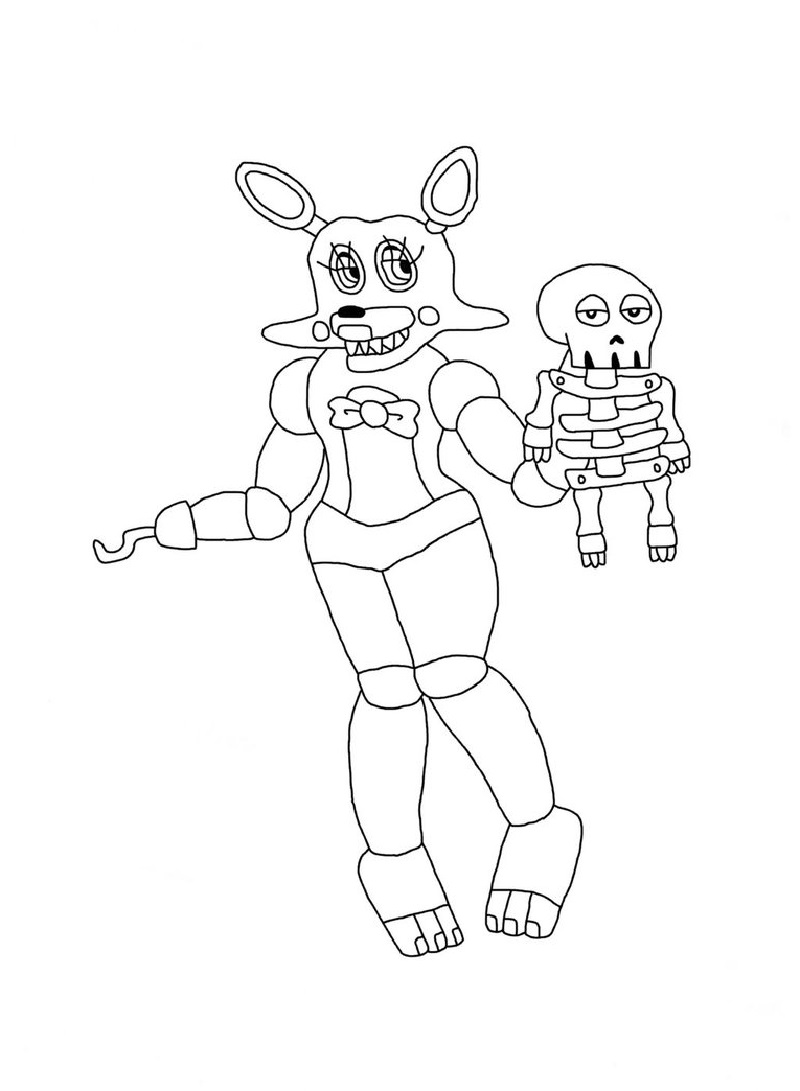 mangle coloring pages toy