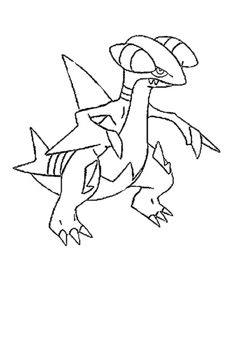 mega pokemon coloring pages gabite | Educative Printable