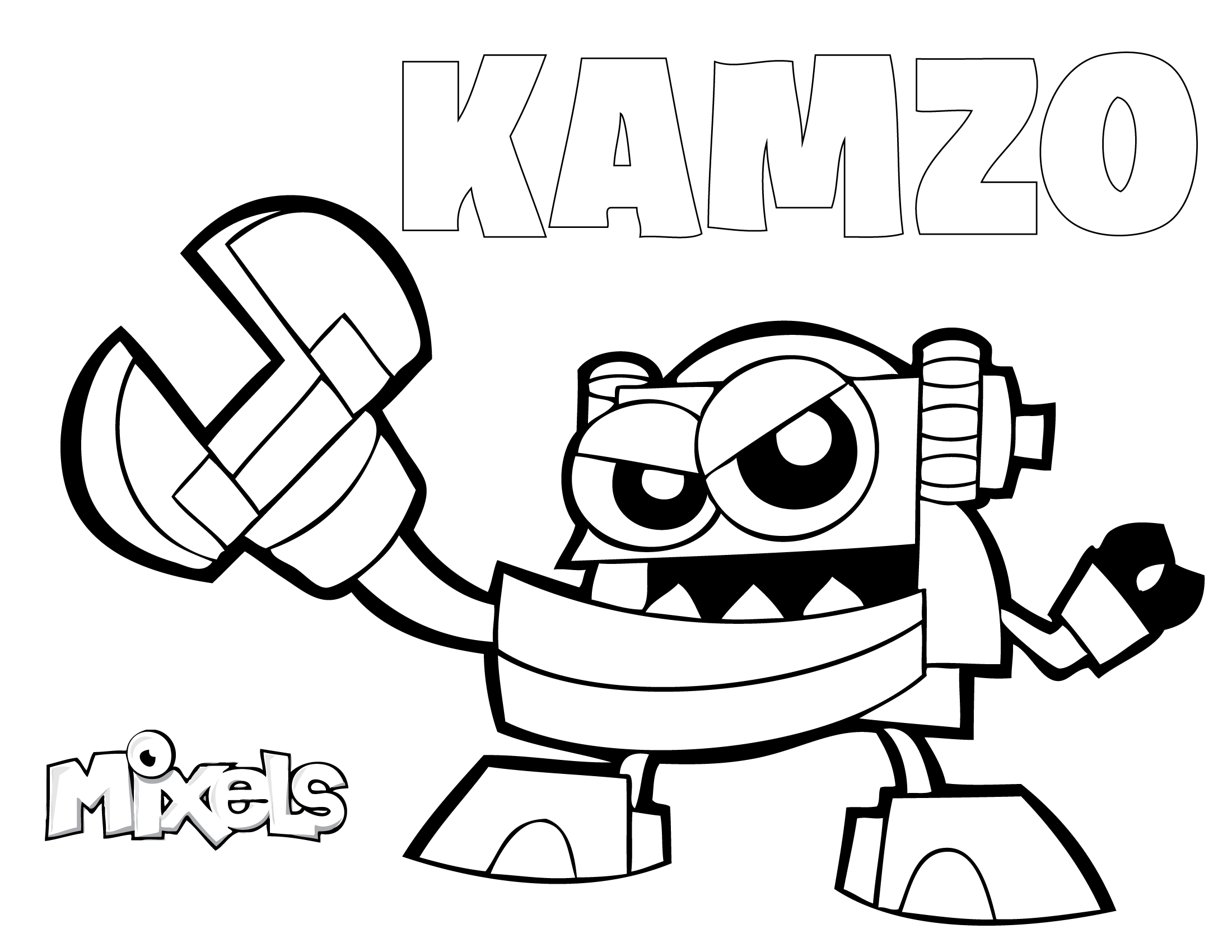 mixels coloring pages kamzo