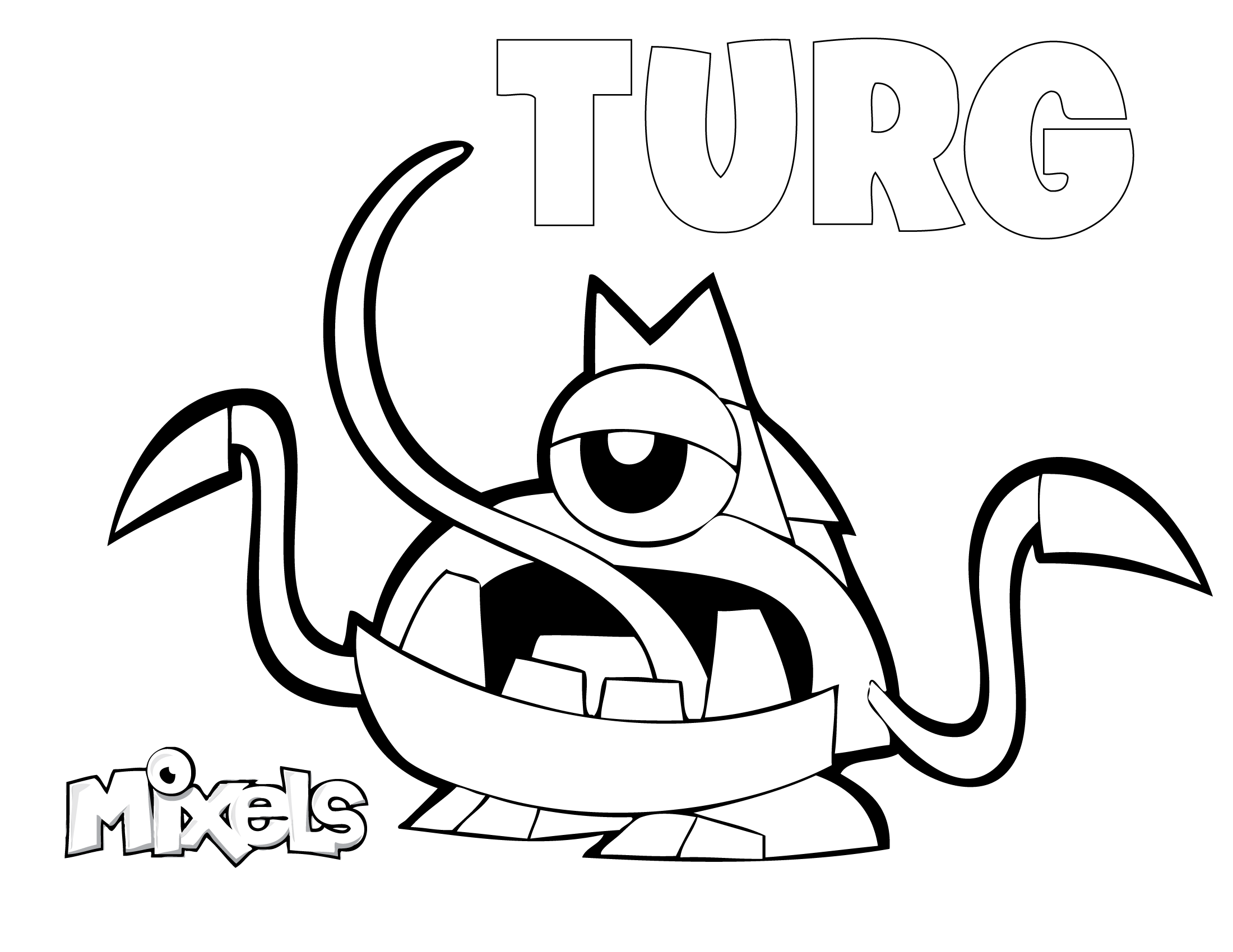 mixels coloring pages turg